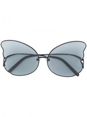 Солнцезащитные очки в форме бабочки Matthew Williamson. Цвет: чёрный