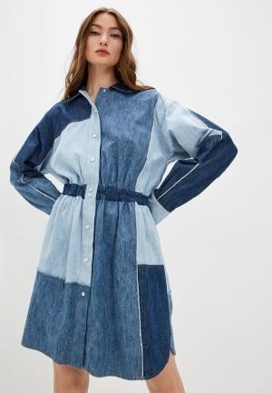 Платье джинсовое Dolce&Gabbana. Цвет: синий