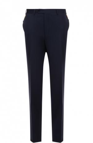 Классические шерстяные брюки Canali. Цвет: темно-синий