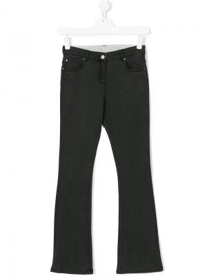 Расклешенные джинсы Stella Mccartney Kids. Цвет: серый