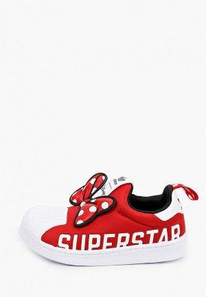 Слипоны adidas Originals. Цвет: красный