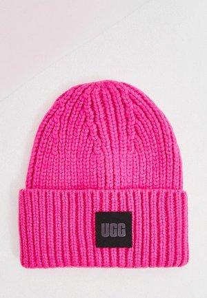 Шапка UGG. Цвет: розовый