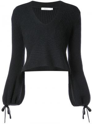 Укороченный свитер в рубчик A.L.C.. Цвет: синий