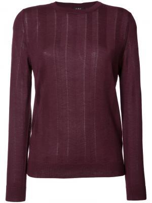 Трикотажный свитер A.P.C.. Цвет: розовый и фиолетовый