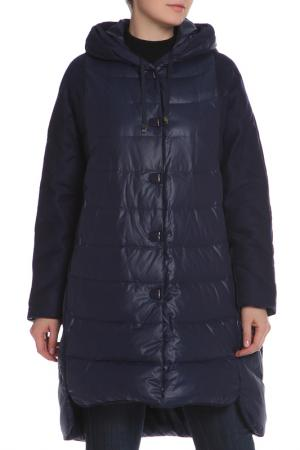 Пальто La Reine Blanche. Цвет: синий
