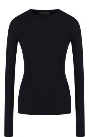 Шерстяной пуловер с круглым вырезом Erika Cavallini. Цвет: синий