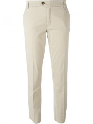 Классические брюки-чинос Tory Burch. Цвет: телесный