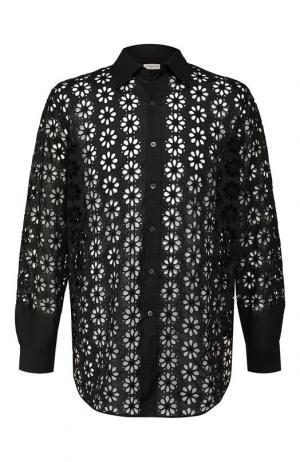 Хлопковая рубашка Dries Van Noten. Цвет: черный