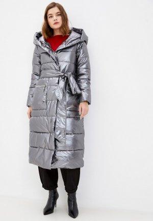 Куртка утепленная Mamma Mia. Цвет: серебряный