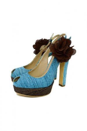 Открытые туфли GIANNI MARRA. Цвет: голубой