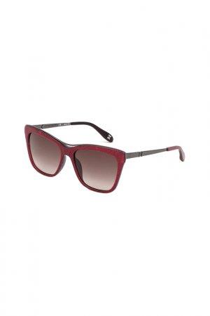 Солнцезащитные очки CAROLINA HERRERA NEW YORK. Цвет: розовый
